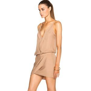 Mason Silk Mini Dress Crossover Blouson 4